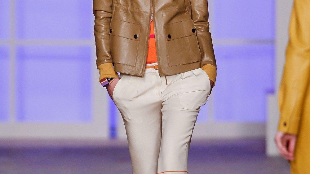 Tommy Hilfiger: Leder und gedeckte Farben