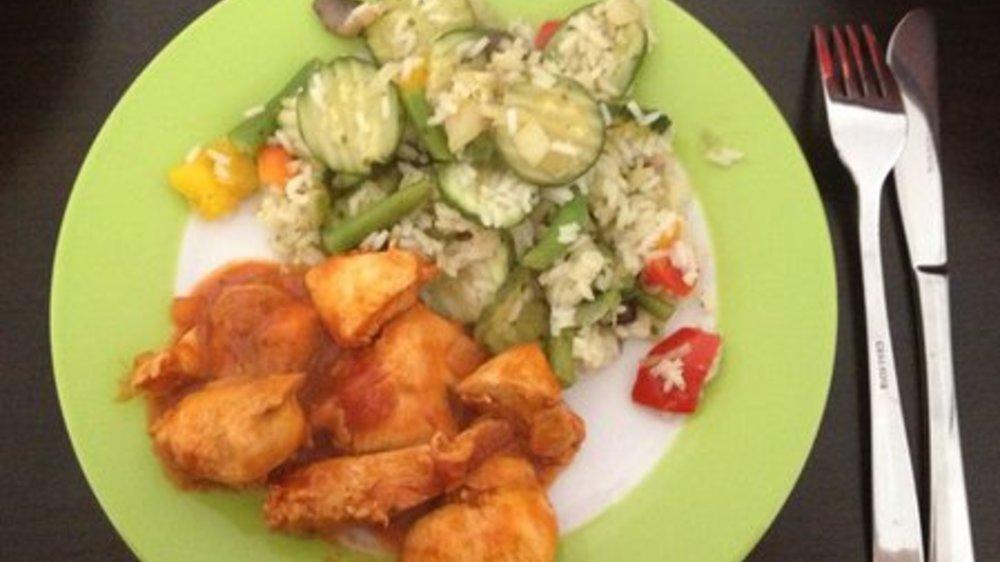 Hähnchengeschnetzeltes mit Gemüse