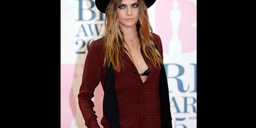 Brit Awards 2015 Cara Delevingne