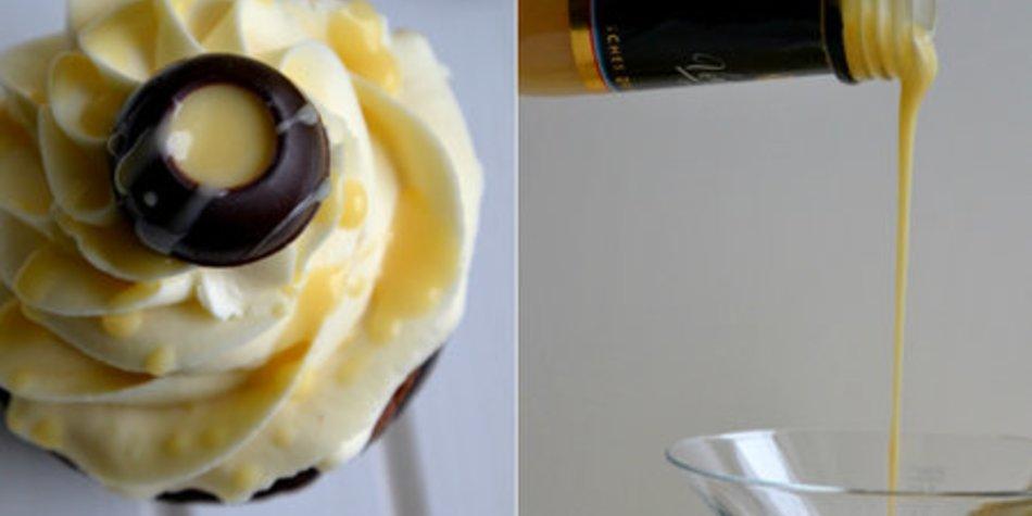 Unwiderstehliche Verpoorten Schokoladen-Cupcakes mit Mascapone-Eierlikör-Frosting