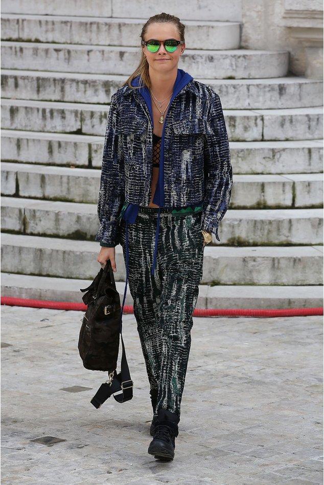 Cara Delevingne bei einer Fashionshow