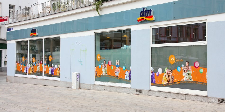 Vienna, Austria - September 7, 2011: DM perfumery on September 7, 2011 in Vienna. The company founded in 1973 employs 43,930 people and had 6.87 billion EUR revenue in 2011/2012 fiscal year.