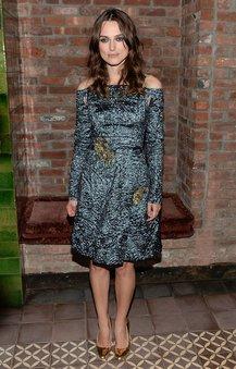 Keira Knightley im adretten Kleid