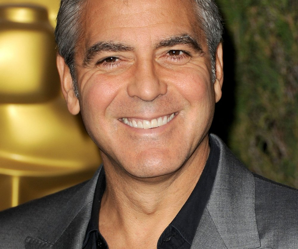 George Clooney als Karikaturist
