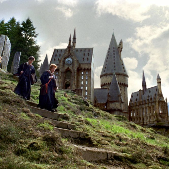 Harry, Ron und Hermine in Hogwarts