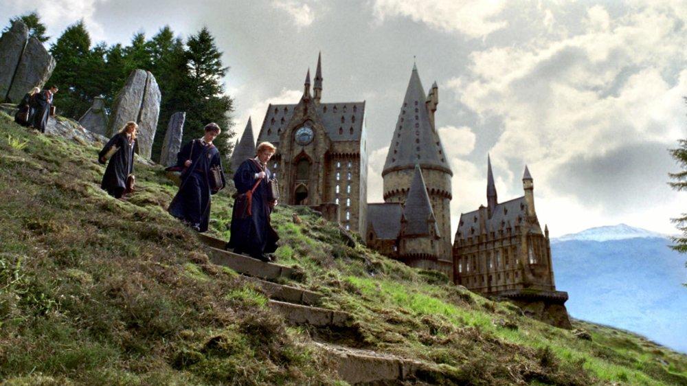 Harry, Ron und Hermine in Hogwarts