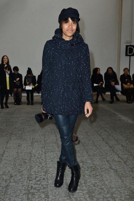 Bloggerin bei der Mailänder Modewoche