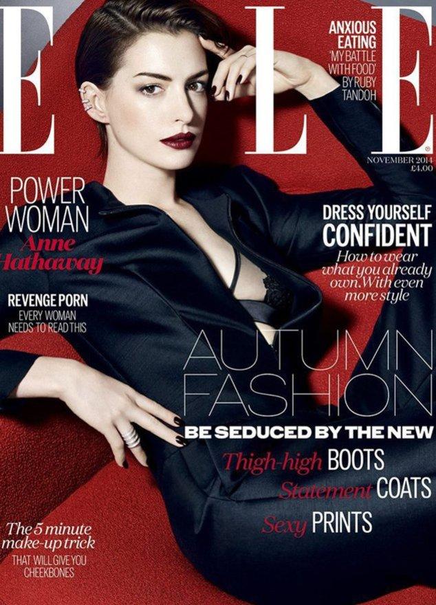"""Anne Hathaway auf dem Cover der britischen """"Elle"""""""