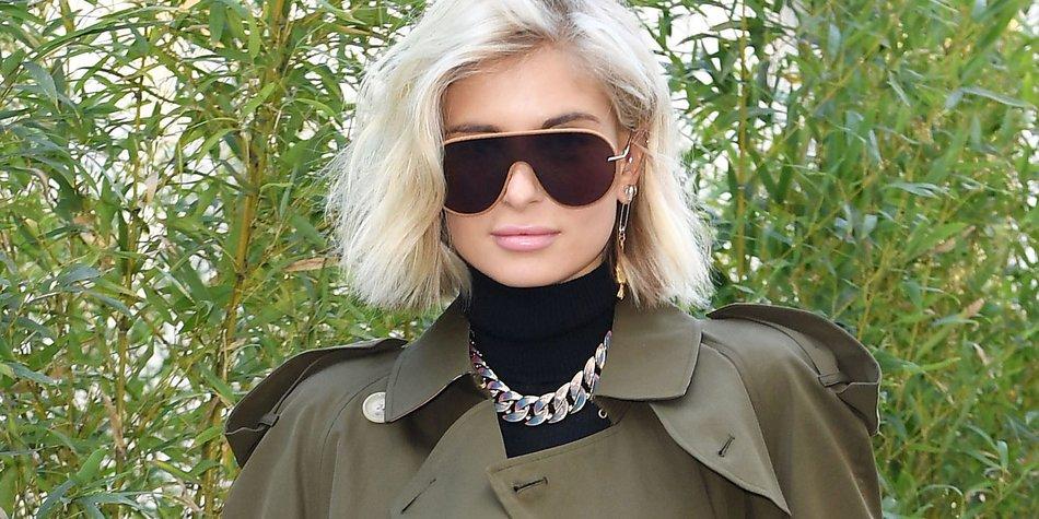Auch Fashion-Bloggerin Xenia Adonts trägt ihre Haare am liebsten als Tob.