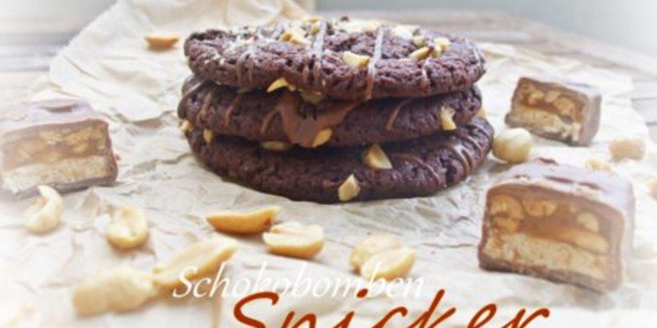 Schokobomben-Cookies mit Snickers