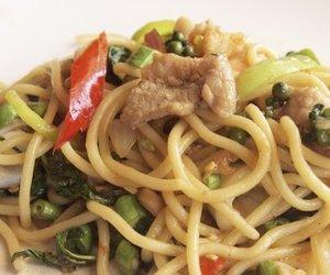 Spaghettisalat mit Sojasoße
