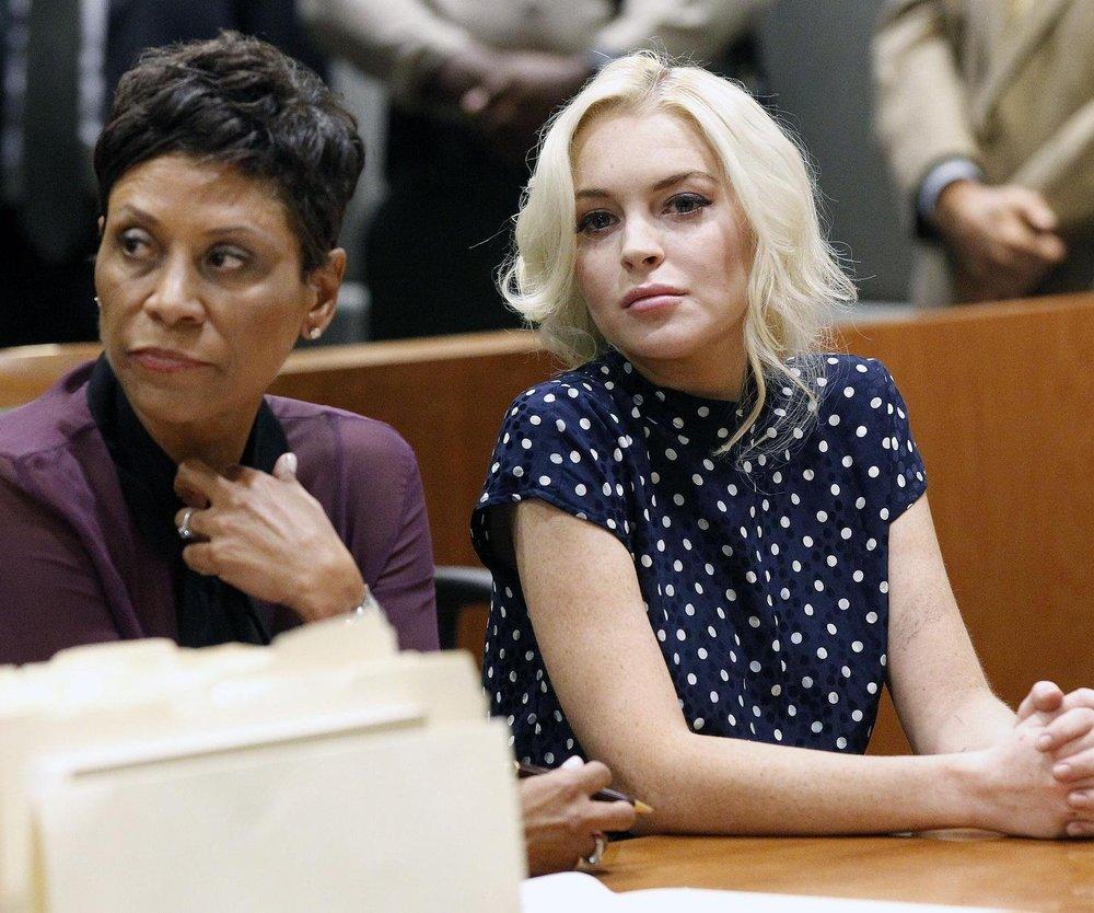 Lindsay Lohan erscheint aus Angst vor Gericht