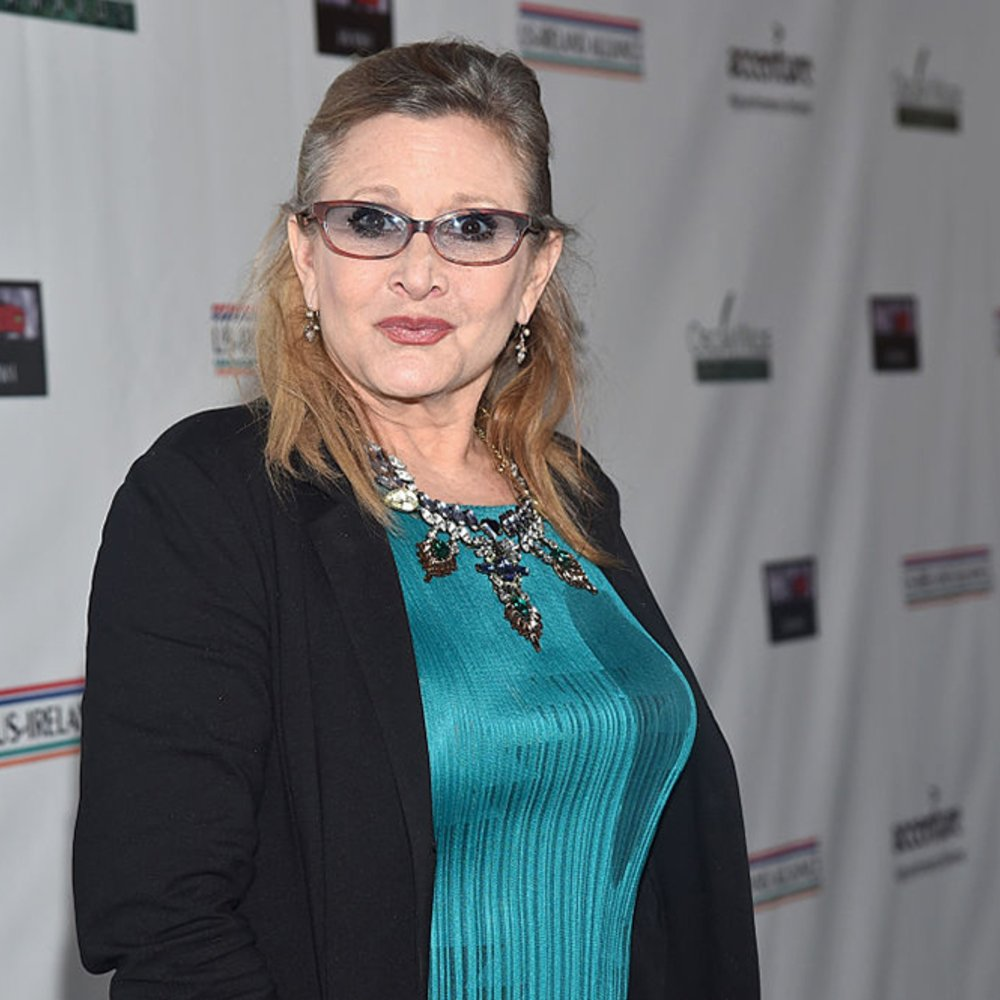 SANTA MONICA, CA - FEBRUARY 19: Honoree Carrie Fisher attends the US-Ireland Aliiance's Oscar Wilde Awards event at J.J. Abrams' Bad Robot on February 19, 2015 in Santa Monica, California. (Photo by Alberto E. Rodriguez/Getty Images for US-IRELAND ALLIANCE)