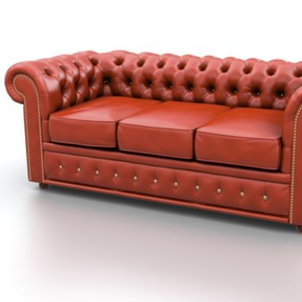 Das Chesterfield Sofa in rostfarben