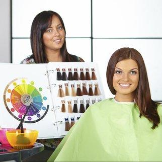 Hair salon. Choice of color.