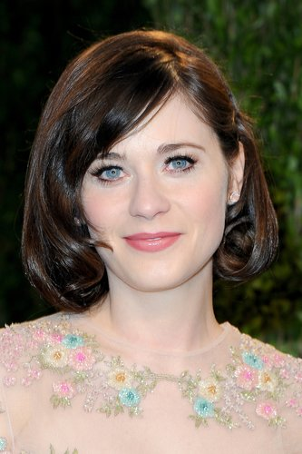 Zooey Deschanel: Inverted Bob mit Pony