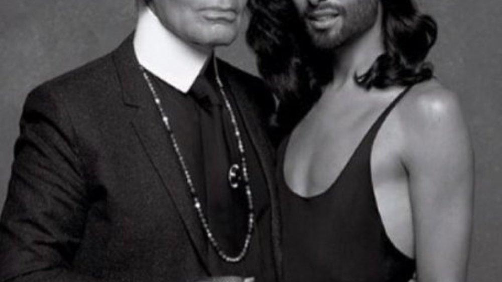 Conchita Wurst modelt für Karl Lagerfeld