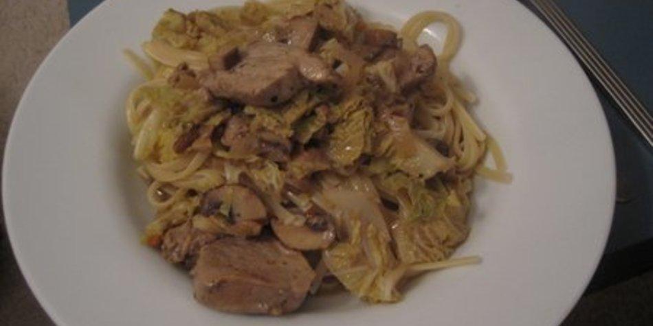 Spaghetti mit Pilzen