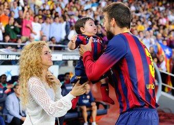Shakira und Gerard Piqué mit Sohnemann Milan
