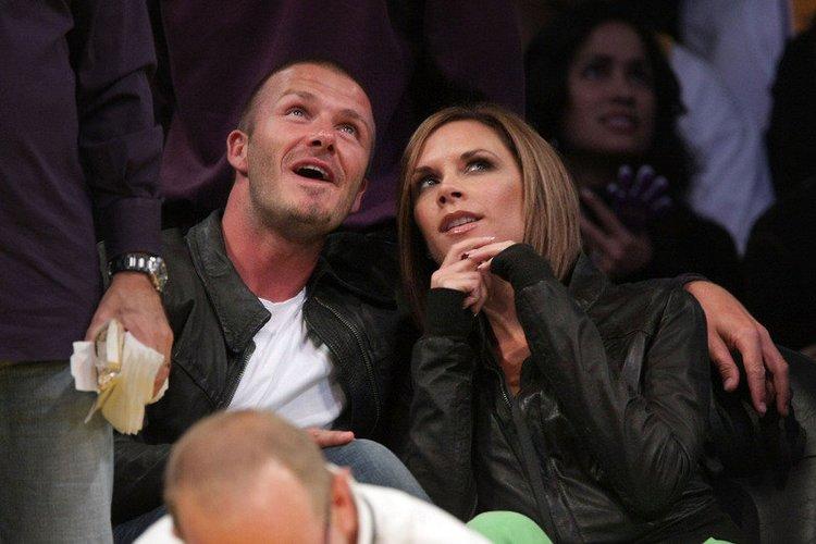 David Beckham und Victoria Beckham im Mai 2008
