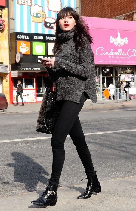 Bloggerin bei der New York Fashion Week