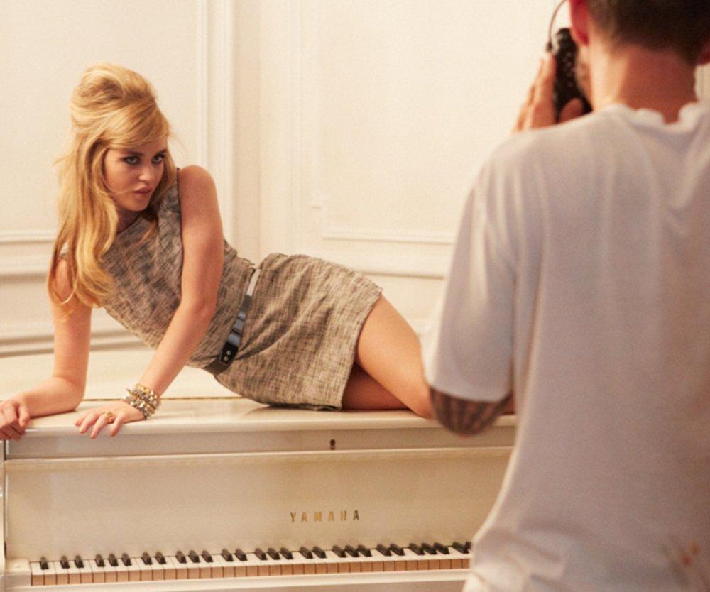 Das Model Georgia May Jagger präsentiert die neue Rock'n'Roll Mansion-Kollektion von H&M.