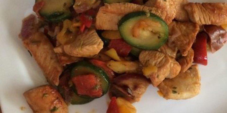 Gemüsepfanne kalorienarm