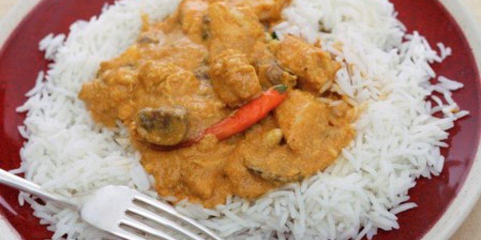 Currysauce mit Reis