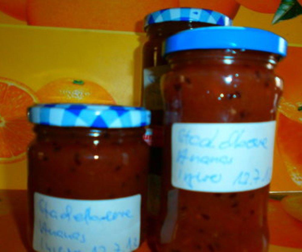Stachelbeere-Ananas-Ingwermarmelade
