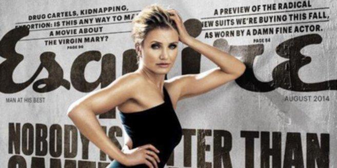 """Cameron Diaz auf dem Cover des """"Esquire""""."""