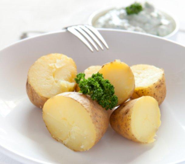 Kartoffeln mit Apfelquark:Lecker leicht.