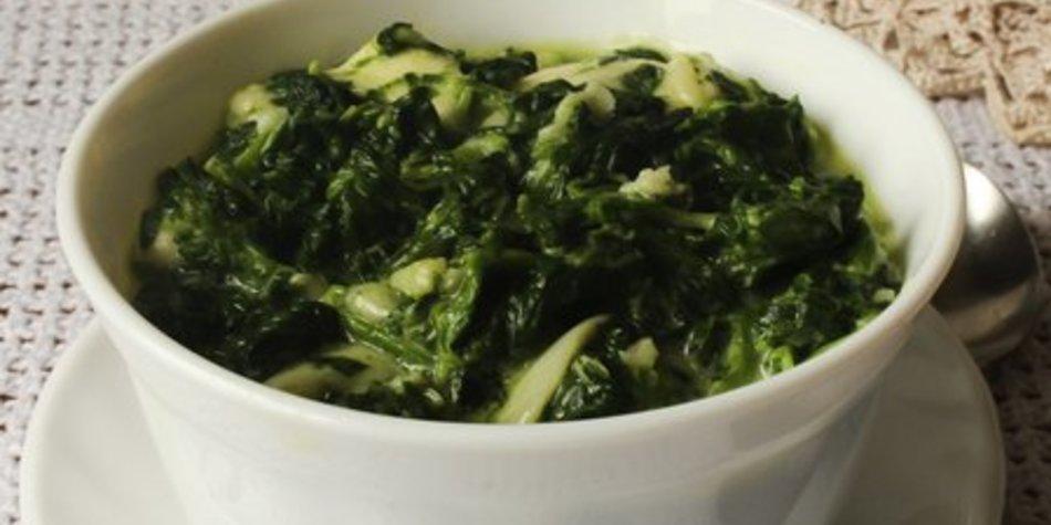 Spinat blanchieren