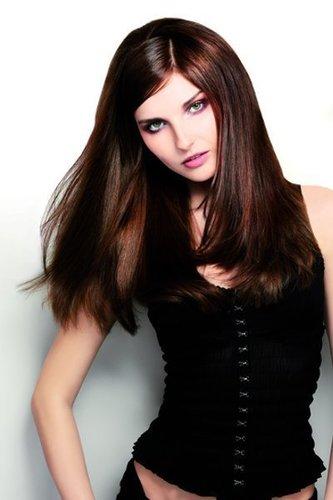 Lange braune Haare mit viel Glanz