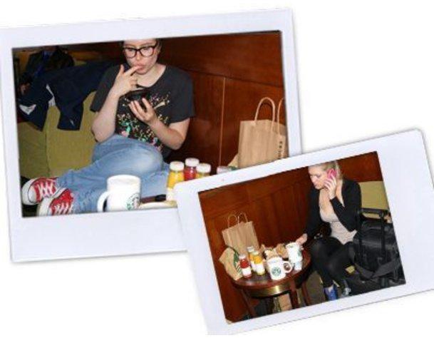 Frühstück für der Reise zur Fashion Week New York