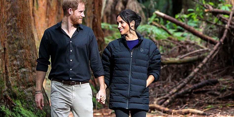 ROTORUA, NEW ZEALAND - OCTOBER 31: Prince Harry, Duke of Sussex and Meghan, Duchess of Sussex visit Redwoods Tree Walk on October 31, 2018 in Rotorua, New Zealand. The Duke and Duchess of Sussex are on the final day of their official 16-day Autumn tour visiting cities in Australia, Fiji, Tonga and New Zealand. (Photo by David Rowland - Pool/Getty Images)