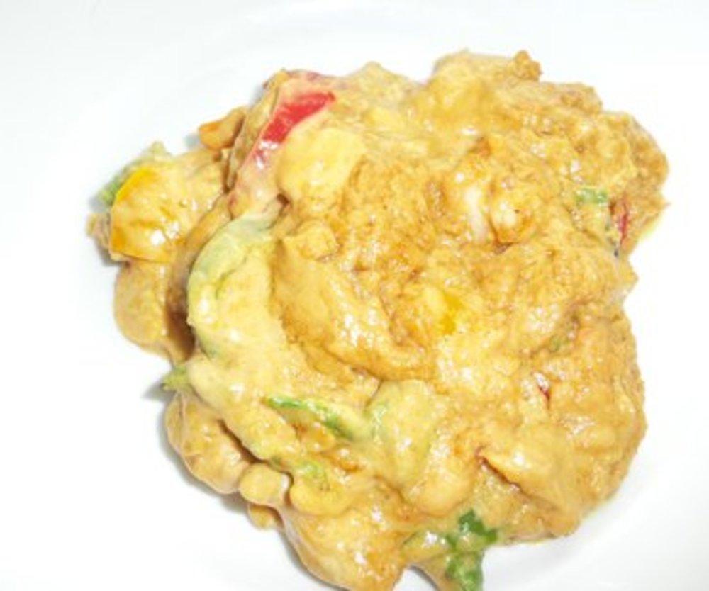 Hühnchen mit Erdnuss-Curry-Sauce