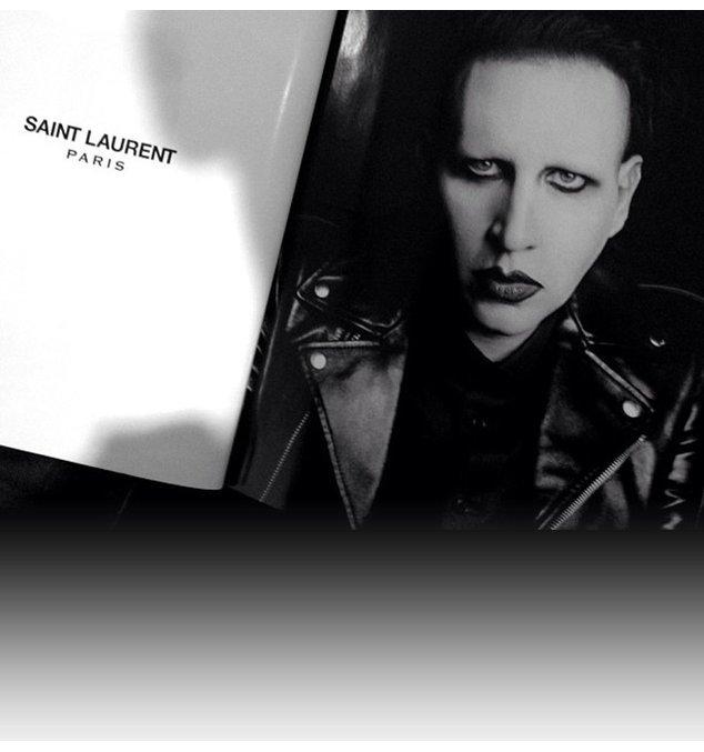 Marilyn Manson wirbt für Saint Laurent Paris