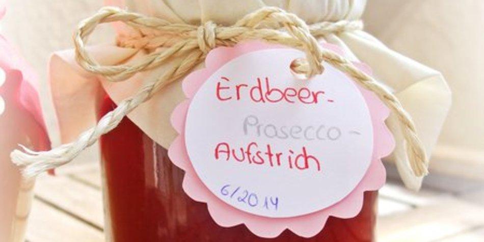 Erdbeer-Prosecco-Aufstrich