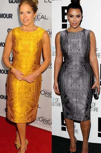 Kim Kardashian und Katie Couric