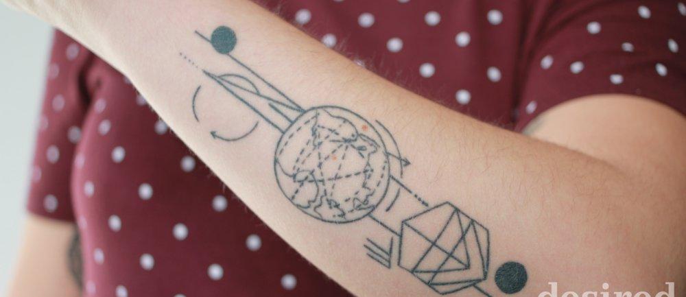 Geometrische Tattoos