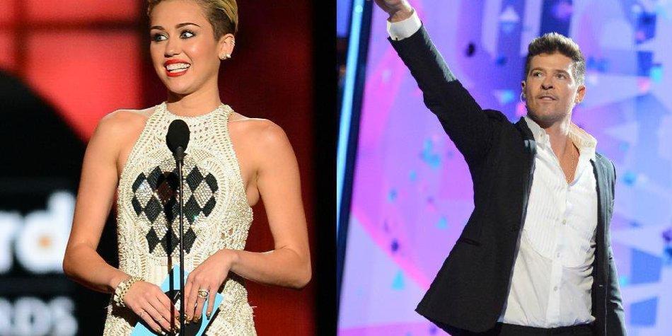 Miley Cyrus: Duett mit Robin Thicke?