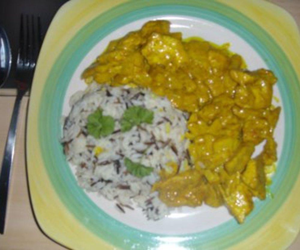 Curry Ananas Hähnchen Pfanne