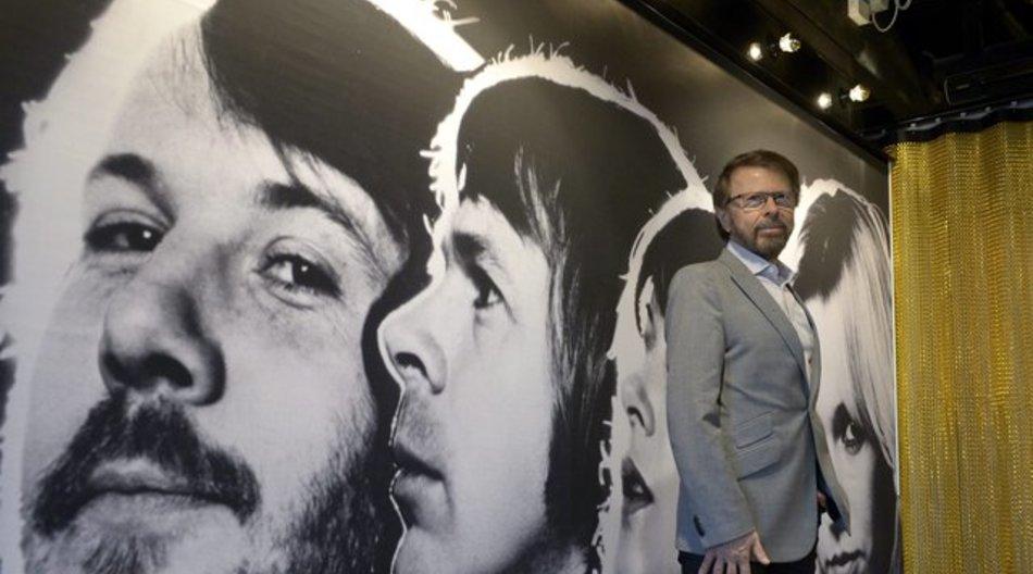 Björn Ulvaeus im Abba-Museum.