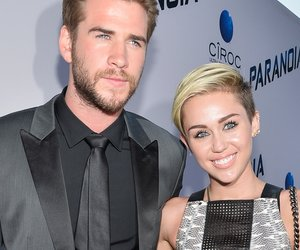 """LOS ANGELES, CA - AUGUST 08: Actor Liam Hemsworth and singer Miley Cyrus attend the premiere of Relativity Media's """"Paranoia"""" at DGA Theater on August 8, 2013 in Los Angeles, California. (Photo by Frazer Harrison/Getty Images for Relativity Media)"""