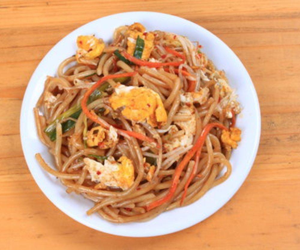 Asiatische gebratene Nudeln