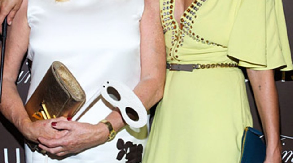 Catherine Deneuve und Kate Moss erschienen zur Ausstellungseröffnung.
