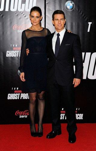 Katie Holmes und Tom Cruise auf dem roten Teppich