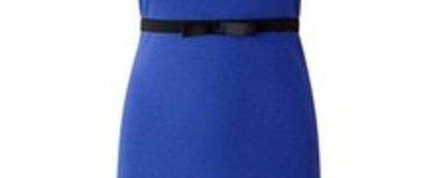 Shirtkleid in blau und schwarz