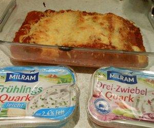 Cannelloni arrabiata mit Milram Quark