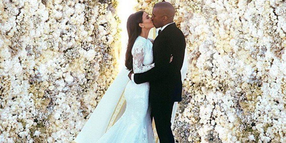 Kim Kardashian und Kanye West: Hochzeitskuss mit Zunge!